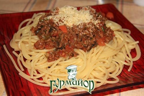 паста из фарша со спагетти рецепт с фото
