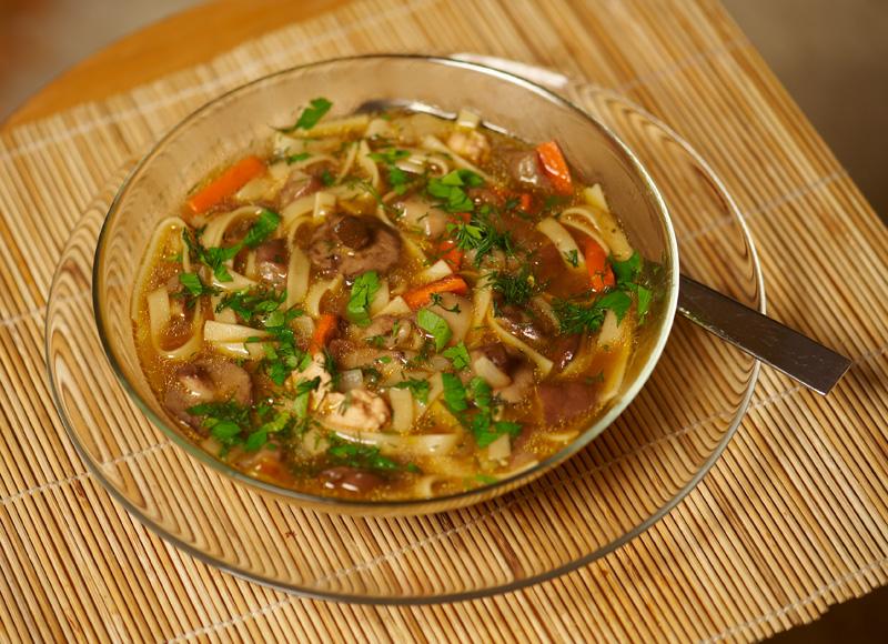 Грибной суп с лапшой рецепт с фото